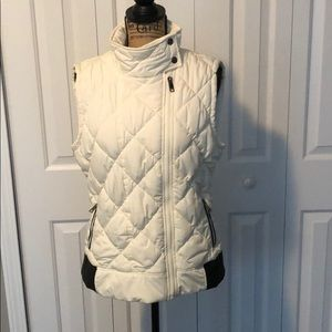 Marc New York Cream Quilted Vest - Cozy and Warm!